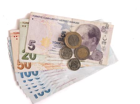 turkish lira: isolated turkish lira