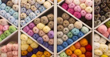 Knitting yarn background