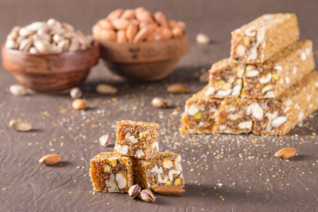 turkish delight with sesame and almond