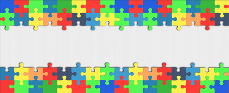 hollow colorful puzzle frame Banque d'images - 115525039