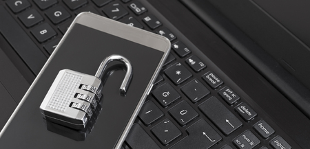 Combination lock on phone and labtop keyboard