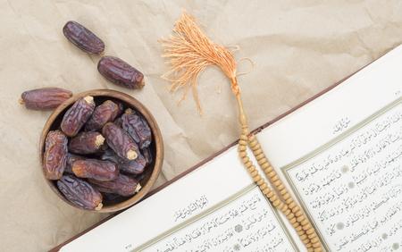 dry date bowl and koran