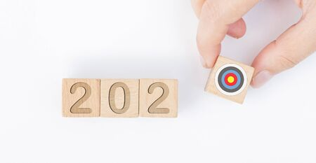 New Year goals. 2020 and business concept Imagens