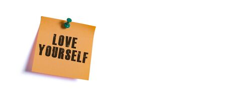 self motivating concept, love yourself message Banque d'images