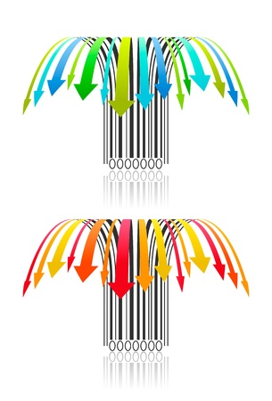 Two creative vector barcode. Illustration