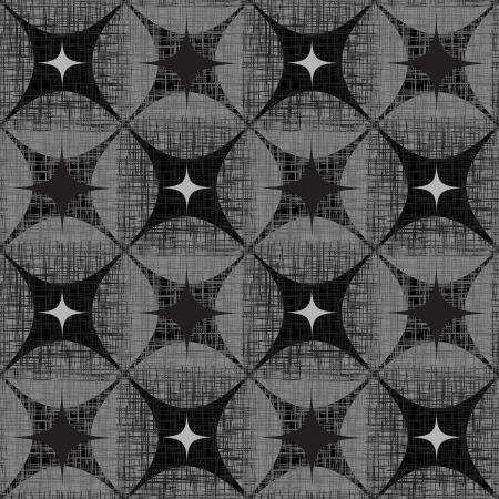 Grunge Abstract Seamless Pattern  Checkered Black and white Illustration