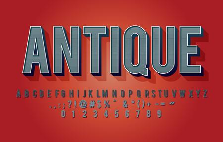 Vintage alphabet design with detail texture