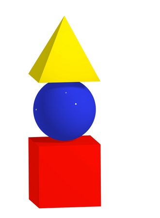 Primary colours and shapes Stock Photo - 16385751