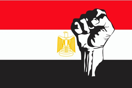 Egyptian unrest Vector