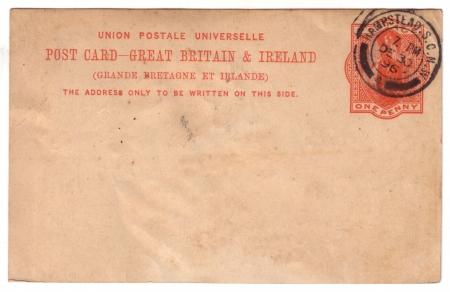 19th Century English postcard sent from London Hampstead  photo