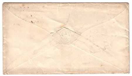 19th Century English envelope  photo