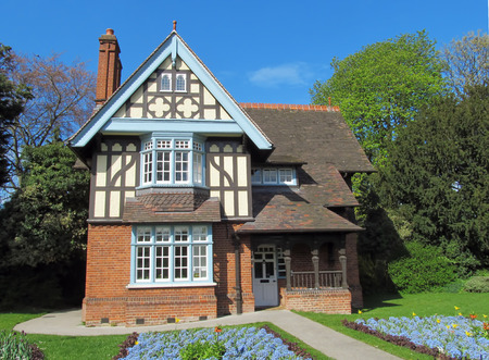 Typical English half-timbered cottage NOTE FOR THE EDITOR College Gate Lodge in Dulwich Park, London, is a Southwark Council property  public sector