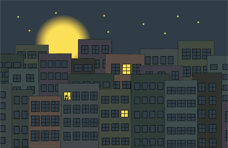 sleepless city Vector
