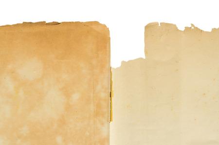 papier vierge: Old vierge spectacle texture du papier sur fond blanc. Banque d'images