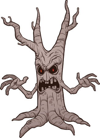 Scary Halloween tree