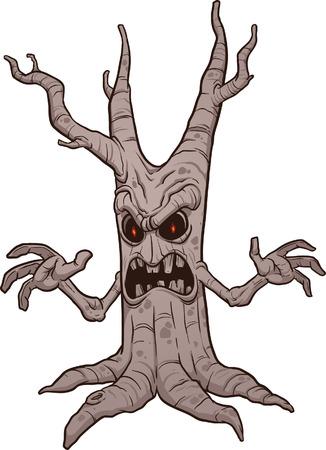 growling: Scary Halloween tree
