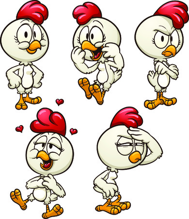 Cute cartoon hen