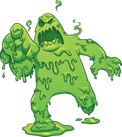 Cartoon toxic monster    Stock Vector - 23013884