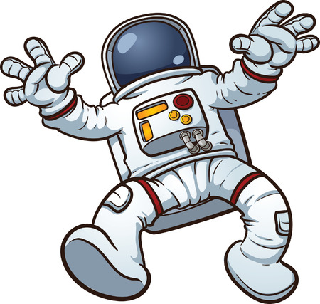 the astronauts: Astronaut clip art  Vector cartoon illustration with simple gradients  All in a single layer   Illustration