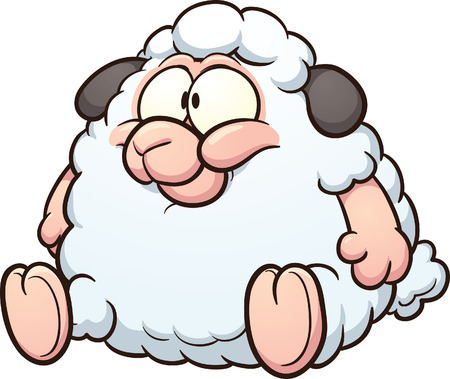 cartoon sheep: Fat sheep clip art