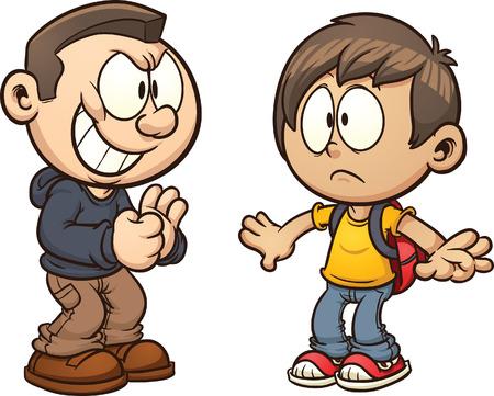 Gepest cartoon kind Vector clip art afbeelding met eenvoudige hellingen Elk kind op een aparte laag Stock Illustratie