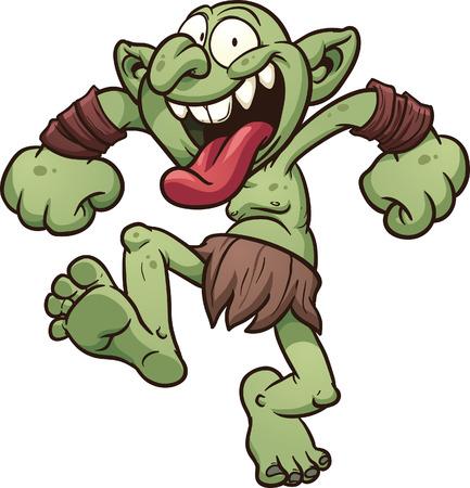 Crazy cartoon troll