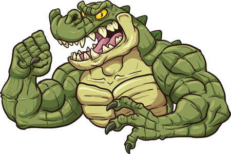 krokodil: Alligator Clip Art Maskottchen Illustration