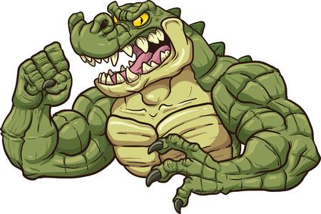 alligators: Alligator mascot clip art   Illustration