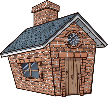 Little brick house Ilustração
