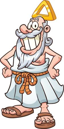 漫画神 1 つのレイヤーのすべての簡単なグラデーション ベクトル クリップ アート イラスト