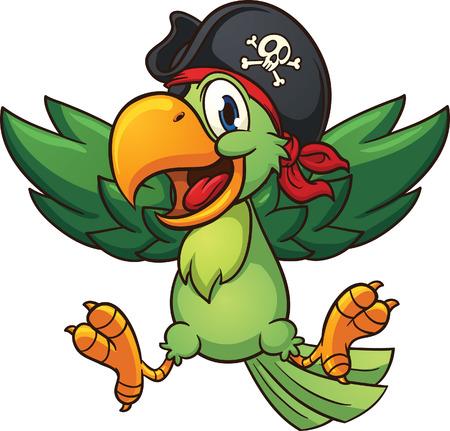 Szczęśliwy papuga pirata