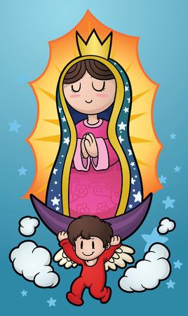 Maagd van Guadalupe clip art afbeelding met eenvoudig verlopen