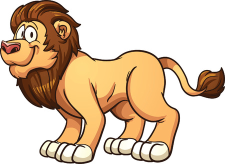 all in: Cartoon male lion  Vector clip art illustration with simple gradients  All in a single layer   Illustration