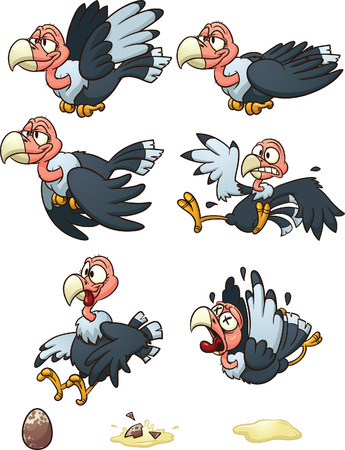 laying egg: Vultures sprites, flight cycle, laying egg, and dying.