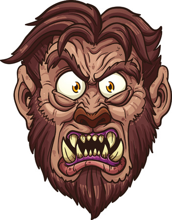 Angry werewolf face.