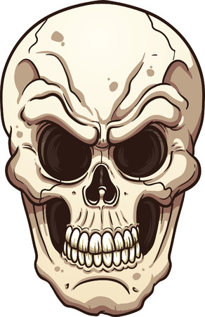 Evil skull. Vector clip art illustration with simple gradients. All in a single layer. Çizim
