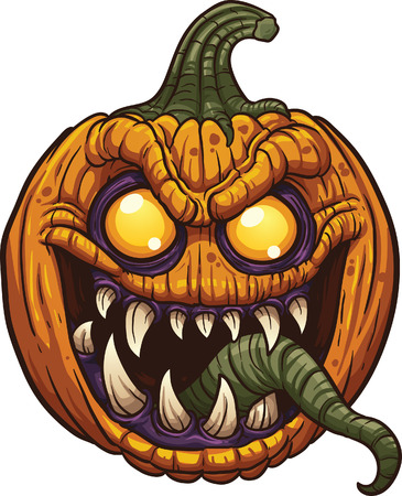 Halloween pumpkin monster.