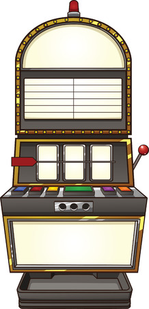 Slot machine. Vector clip art illustration with simple gradients. Handle is on a separate layer.