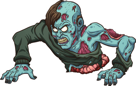 Zombie with no legs crawling.