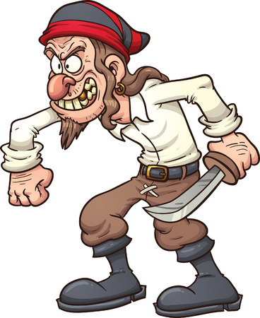 Verrückte Cartoon-Pirat. Standard-Bild - 34284928