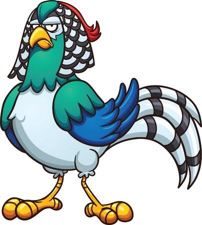 pheasant: Cartoon Lady pheasant. Vector clip art illustration with simple gradients. All in a single layer. Illustration