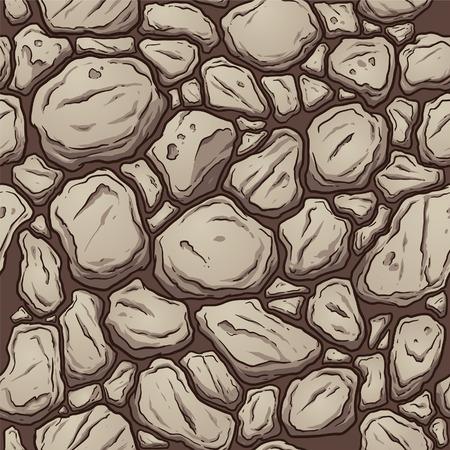 둥근 돌: 원활한 바위 패턴. 간단한 그라데이션으로 벡터 클립 아트 그림입니다. 모든 단일 층.