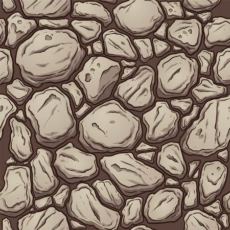 rock layer: Seamless rock pattern. Vector clip art illustration with simple gradients. All in a single layer.