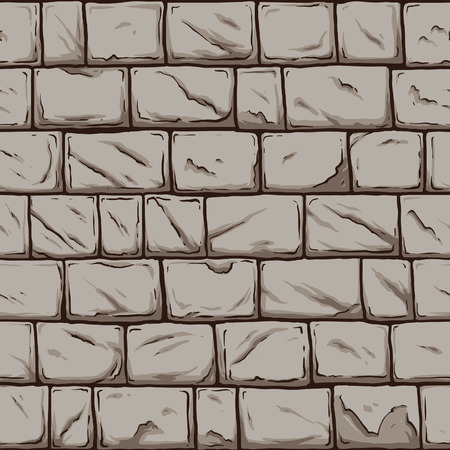 stone wall: Seamless stone wall. Vector clip art illustration. All in a single layer.