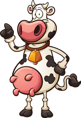 cow vector: Cartoon cow. Vector clip art illustration with simple gradients. All in a single layer.