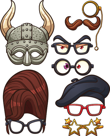funny glasses: Funny cartoon glasses.