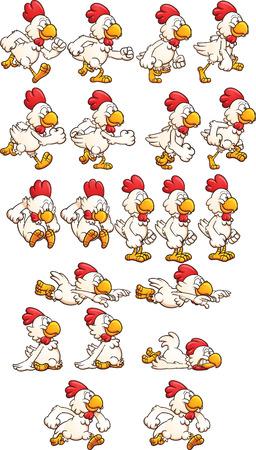 닭 스프라이트를 실행. 스톡 콘텐츠 - 46909929