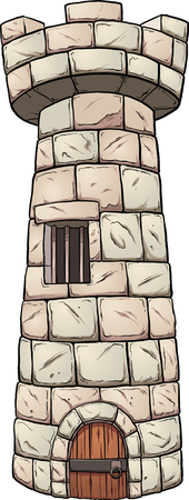 rock layer: Cartoon rock tower. Vector clip art illustration with simple gradients. All in a single layer. Illustration