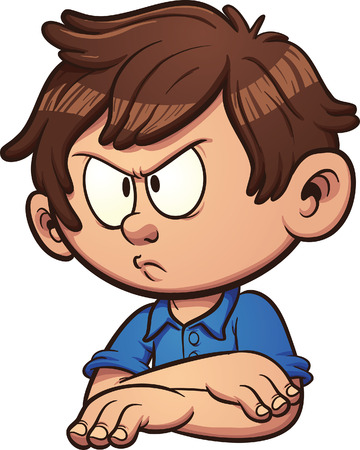 angry person: Angry cartoon boy. Vector clip art illustration with simple gradients. All in a single layer. Illustration