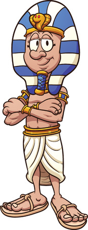 king of kings: Cartoon pharaoh. Vector clip art illustration with simple gradients. All in a single layer. Illustration